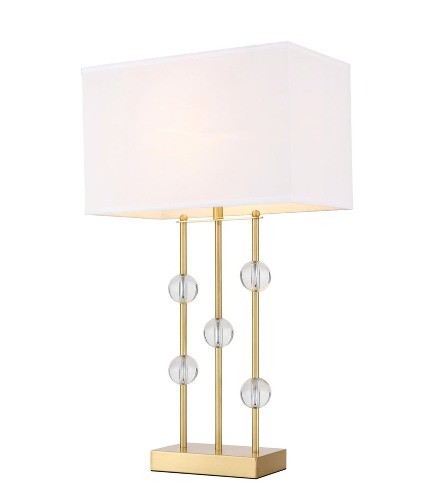 ZC121-TL3025BR - Regency Decor: Rene 1 light Brass Table Lamp