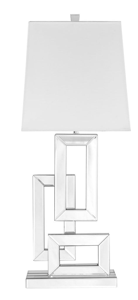 ZC121-ML9301 - Regency Decor: Sparkle Collection 1-Light Silver Finish Table Lamp