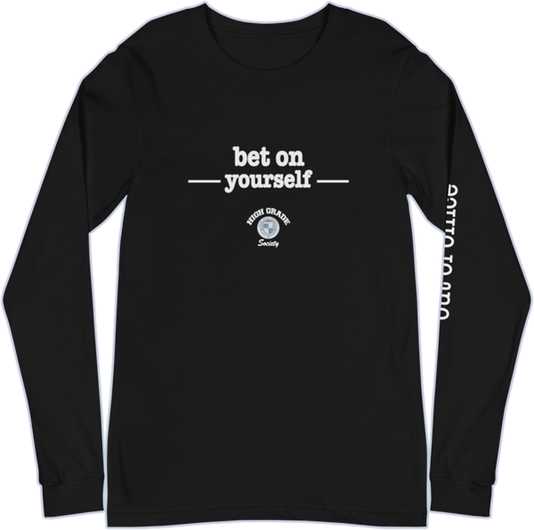 Bet On Yourself OOO Long Sleeve Tee - Black