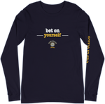 Bet On Yourself OOO Long Sleeve Tee - Navy Blue