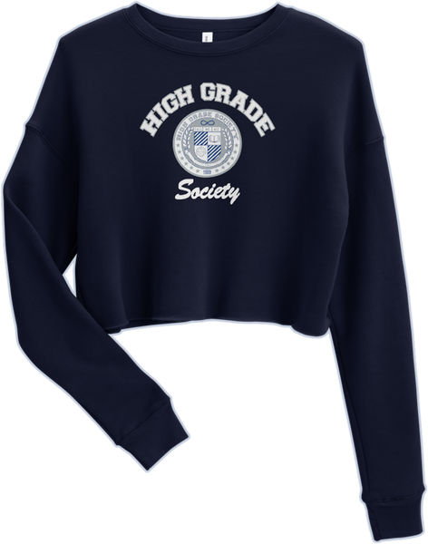 HGS OOO Crop Sweatshirt - Navy