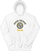 High Grade Society OOO Hoodie - White/Gold