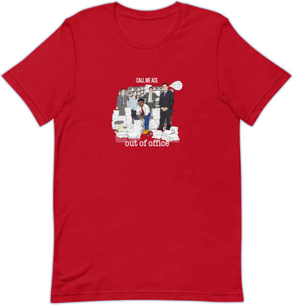 Out Of Office Album Tee - Red