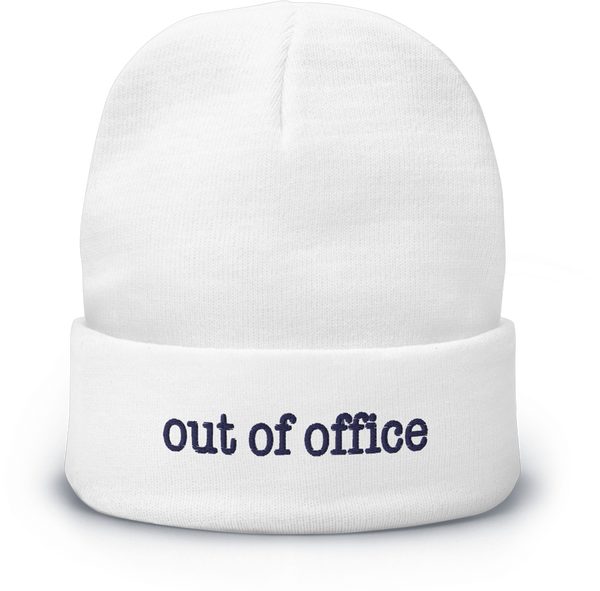 Out Of Office Beanie - White/Blue