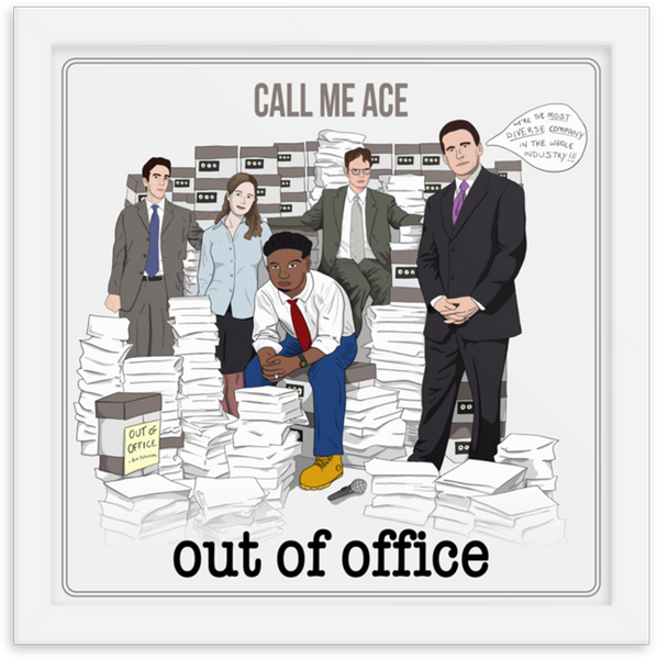 Out Of Office Framed Artwork