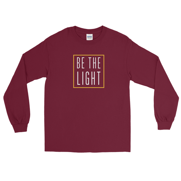"Be The Light ""Candle"" Long Sleeve Tee - Maroon Red - Light Armor Music"