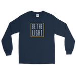 "Be The Light ""Candle"" Long Sleeve Tee - Navy Blue - Light Armor Music"