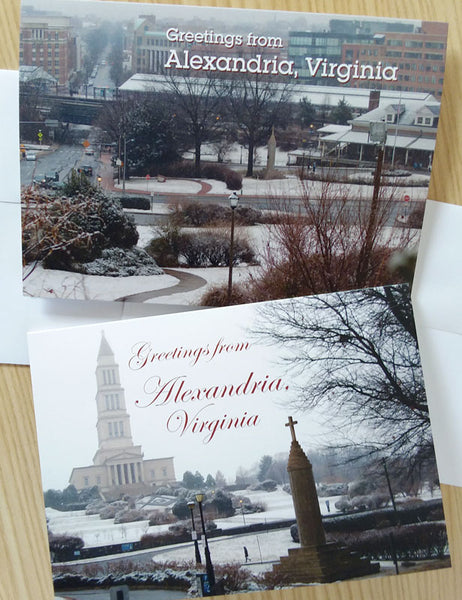 Alexandria in Snow Cards