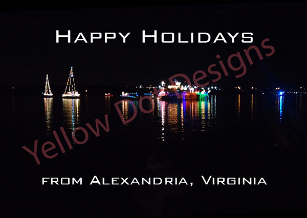 Boats Lights Card - 009