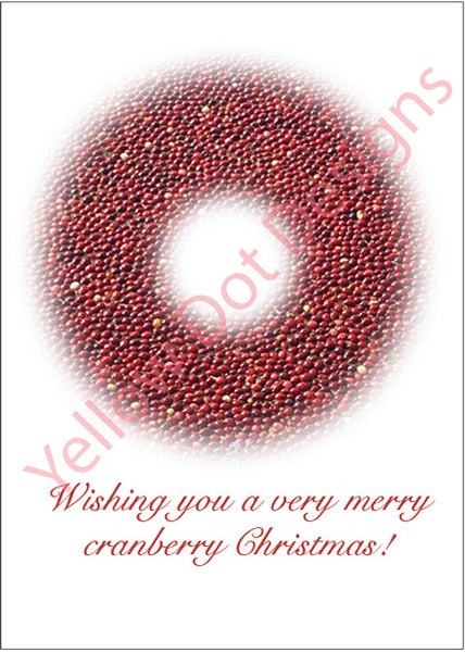 Cranberry Wreath Card - 008