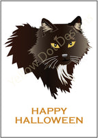 Halloween Card - Black Cat