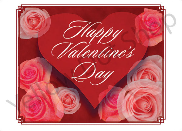 Valentine's Day Card with Roses - 039