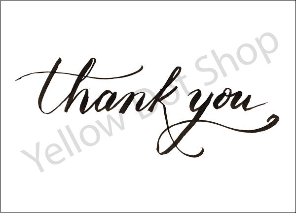 Thank You Card - Calligraphy - 029