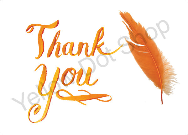 Thank You Card - Yellow - 032