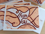 Hand Printed Thank You Note Cards