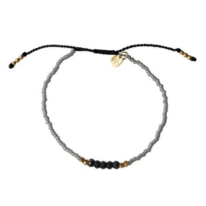 A Beautiful Story Summer Spark Zwarte Onyx armband