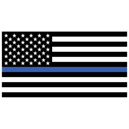 Bumper Sticker - USA Flag/Thin Blue Line