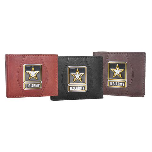 Leather Wallet - Army Star