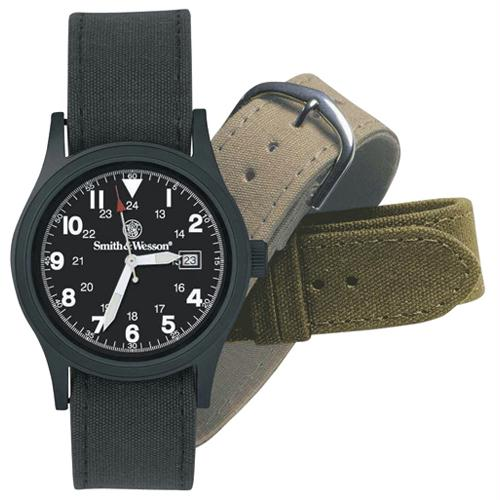 Smith & Wesson Military Watch With Three Straps - Black