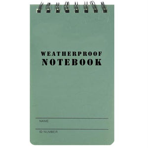 "Military Style Weatherproof Notebook (3"" X 5"")"