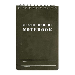 "Military Style Weatherproof Notebook (4"" X 6"")"