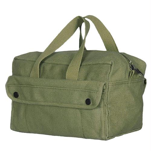 Mechanic's Tool Bag With Brass Zipper - Olive Drab