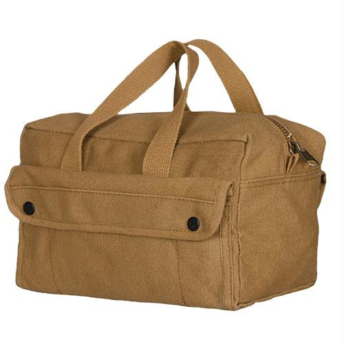 Mechanic's Tool Bag With Brass Zipper - Coyote