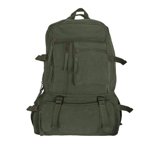 Retro Cantabrian Excursion Rucksack (no Leather Trim) - Olive Drab