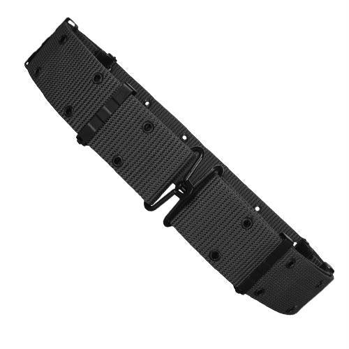 Nylon Pistol Belt - Metal Buckle - Black