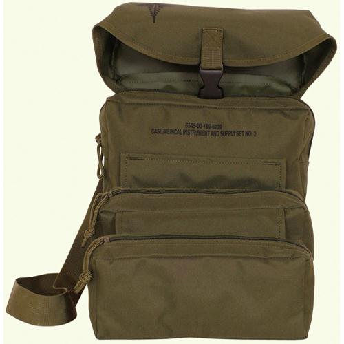 Trifold Medical Bag & First Aid Kit - Olive Drab
