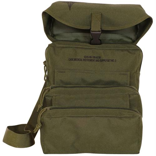 Trifold Medical Bag & First Aid Kit - Olive Drab w/Contents