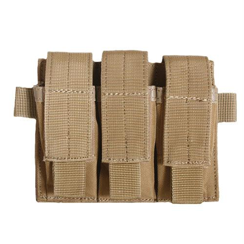 Rip-away Triple Pistol Mag Pouch - Coyote