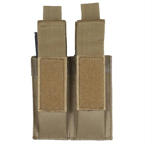 Pistol Quick Deploy Dual Mag Pouch - Coyote