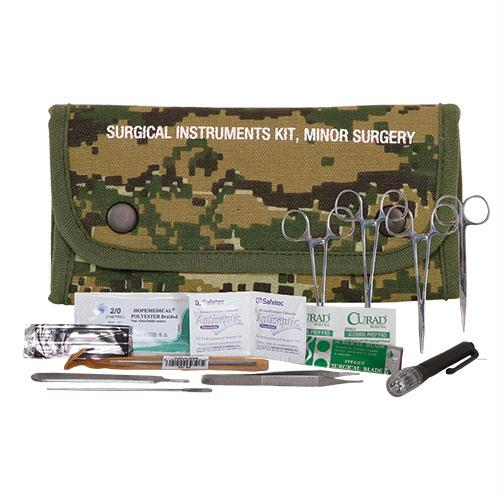 Surgical Kit Pouch (contents) - Digital Woodland