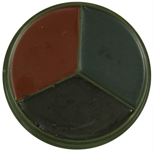 3-color Gi Style Face Paint Compact - Black, Olive Drab, Brown