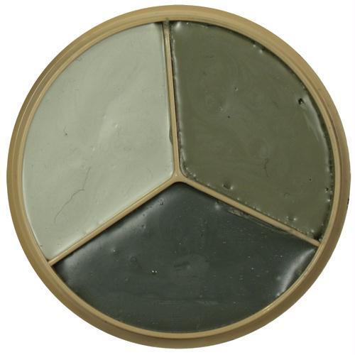 3-color Gi Style Face Paint Compact - Foliage Green, Desert Sand, Grey