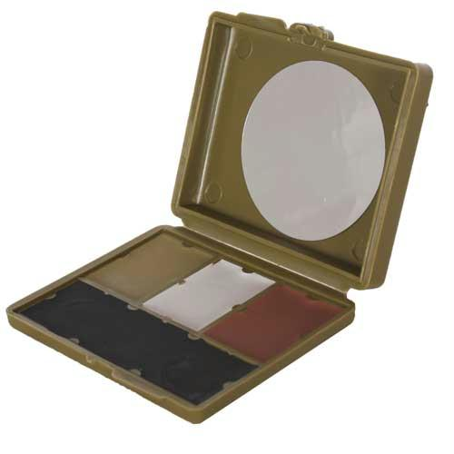 4-color Gi Camouflage Compact Face Paint - Olive Green, Gray, Black, Mud Brown