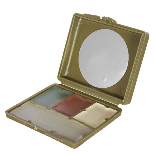 4-color Gi Camouflage Compact Face Paint - Green, Loam, Sand, White