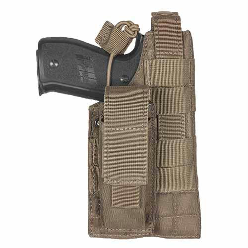 Large Frame Ambidextrous Belt Holster - Coyote