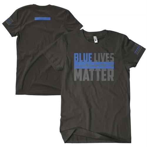 Blue Lives Matter Two-sided Imrinted T-shirt - L