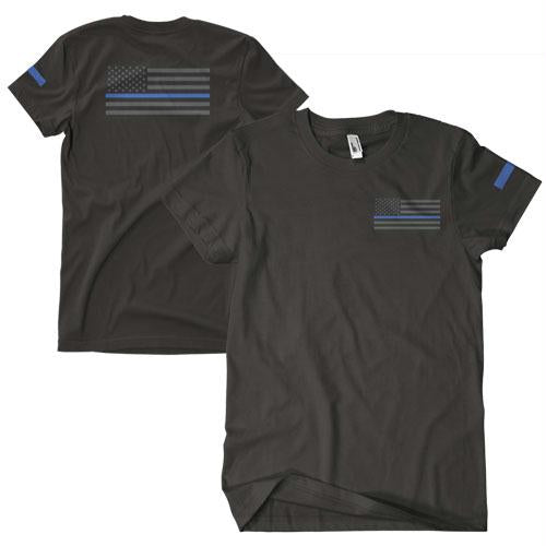 Thin Blue Line Two-sided Imrinted T-shirt