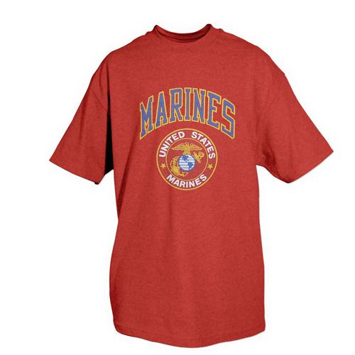 Marines One-sided Imprinted T-shirt - L / Marines Seal / Red