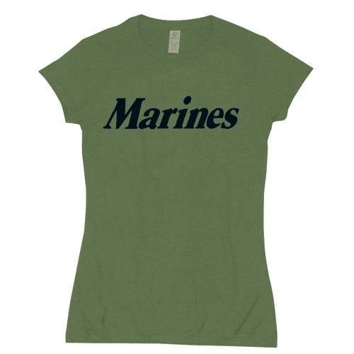 Women's Cotton Tee's - Marines / Olive Drab / XL