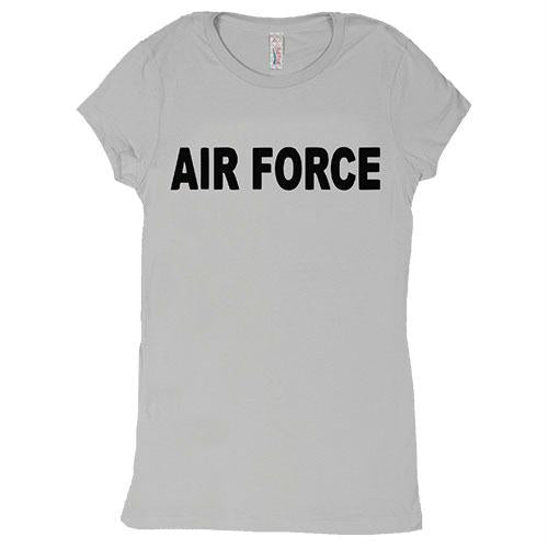 Women's Cotton Tee's - Air Force / Grey / S