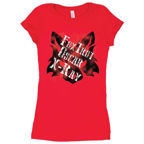 Women's Cotton Tee's - Lady Fox / Red / L