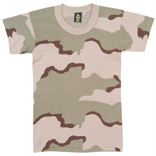 Youth's Short Sleeve T-shirt - 3-Color Desert Camo / XS