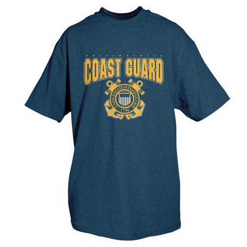 Themed One-sided Imprinted T-shirts - S / Coast Guard / Navy