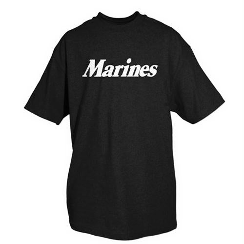 Marines One-sided Imprinted T-shirt - S / Once a Marine / Black