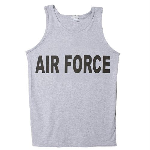 Military Branch Imprinted Tank Top - Air Force - Heather Grey / L