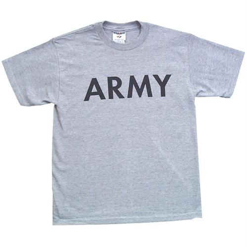Youth's Imprinted T-shirt - S / Army - Heather Grey